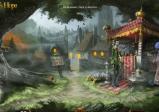 Screenshot: Vor dem Dorf bietet ein orientalischer Händler seine Ware an.