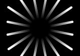 Logo des Spiels: Ein schwarzes Rechteck auf dem sternförmig mit etwas Abstand zur Mitte weiße Linien von innen nach außen gehen.