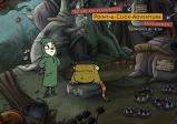 Laura trifft in einer Höhle auf ein kleines Monster.