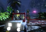 Screenshot: Flucht mit einem LEGO-Auto vor einem LEGO-Saurier