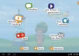 Screenshot: Hauptmenü, in dem die verschiedenen Funktionen auswählbar sind