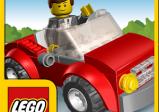 Cover vom Spiel mit einer winkenden Legofigur im Auto.