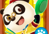 Cover: Ein kochender Panda mit Stäbchen und Pfanne