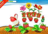 Screenshot: Die kleine Raupe züchtet und pflegt diverse Erdbeer-Sträucher