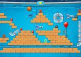 Screenshot: Stopper, Blasebalken und Magneten wurden platziert, um den Ball zum Ziel zu führen
