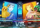 Screenshot: zwei Leute auf Bildschirmen und ihre Pokemon