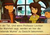 Professor Layton spricht zu Emmy und Luke