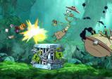 Screenshot: Rayman schlägt Zombie