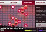 Screenshot: Menü in dem Mutationen für die Krankheit freigeschaltet werden können