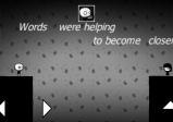 Screenshot: Zwei Comicfiguren stehen sich gegenüber, zwischen ihnen ein Abgrund und darüber ein Schriftsatz.