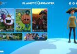 Screenshot: Über das Spielmenü können die Modi Karriere, Sandbox und Herausforderung aufgerufen werden. Zudem können die gespeicherten Parks geladen werden und die Tutorial-Videos angezeigt werden. Ebenso wird der eigene Avatar mit einem Piratenhut gezeigt.