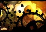 Screenshot mit Waldwesen und großen Zahnrädern