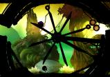 Die Spielfigur wird durch eine Art Rad gesteuert.
