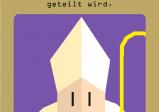 Screeshot: Karte mit einem Bischof. Aufschrift: Wir möchten eine neue Steuer für die Kirche erheben - die natürlich mit der Krone geteilt wird.