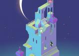 Turm mit großem Mond im Hintergrund