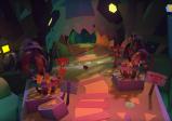 Screenshot: nächtliche Papierlandschaft