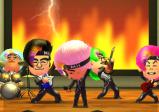 """Screenshot von """"Tomodachi Life"""" mit einer Rockband"""