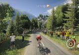 Downhillrennen mit Fahrrad auf offener Straße