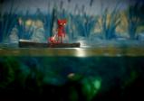 Screenshot: Yarny überquert Gewässer