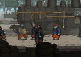 Screenshot mit einem Soldaten, der auf einem Bahnhof umringt von anderen Soldaten steht
