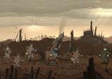 Screenshot mit einem Soldaten, der eine Rakete in einem Schützengraben bedient
