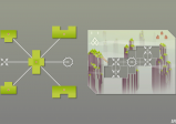 Ein koplexes Puzzle mit vielen Teilen und Optionen.