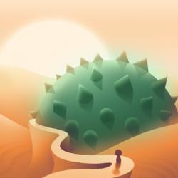 Cover: Eine Spielfigur nähert sich auf einem Pfad einer großen, stacheligen Kugel.
