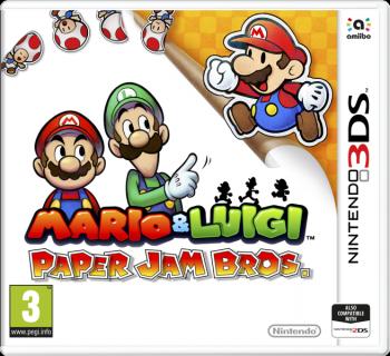Cover: Mario und Luigi schauen zu einem Paper Mario.