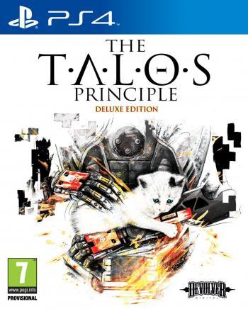 Cover: Unter dem Titel des Spiels ist ein gezeichneter Oberkörper eines Androiden, der ein weißes Kätzchen mit blauen Augen in den Händen hält und es streichelt.
