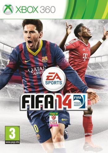 Titelbild FIFA 14 mit lizensierten Spitzenspielern berühmter Vereine