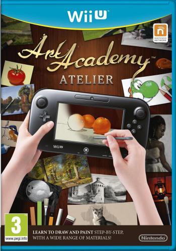 Cover vom Spiel mit einem Wii U-Tablet, auf dem gerade Äpfel gezeichnet werden.