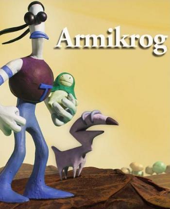 """Cover: Die Knetmassenfigur """"Tommynaut"""" und sein Hund"""