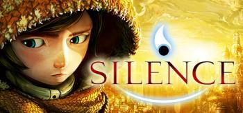 Cover: Ein kleines Mädchen vor einer goldenen Stadt. Daneben der Schriftzug Silence.