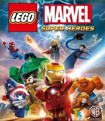 Das Cover zeigt Ironman und einige andere bekannte Marvel-Helden in ihrer LEGO-Version.