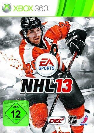 Das Coverbild zeigt einen Eishockeyspieler und den Schriftzug NHL13.