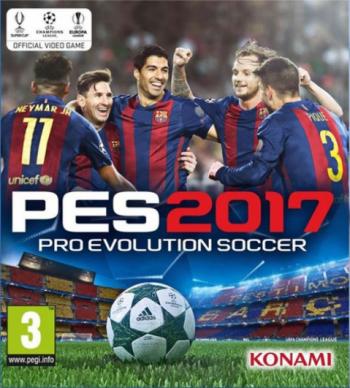 Das Cover zeigt jubelnde Spieler des FC Barcelona über der Schriftzug des Spiels