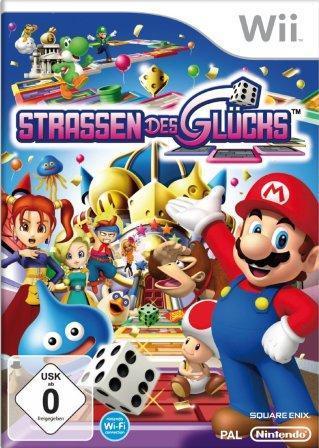 Das Coverbild zeigt Super-Mario und seine Freunde auf einem Spielbrett.