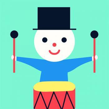 Cover: Ein Männchen mit Zylinder, Trommel und Schlägel