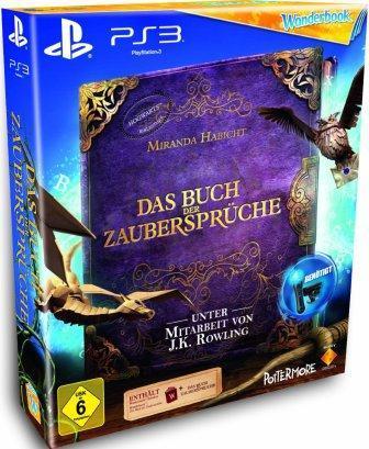 Das Coverbild zeigt ein violettes Zauberbuch.