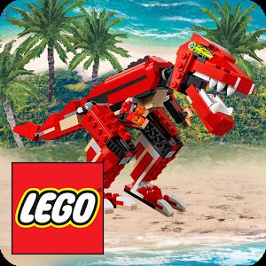 Cover: Ein Dinosaurier aus Lego auf einem Strand.