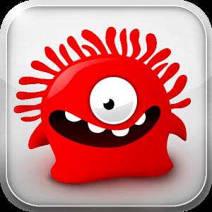 Symbol des Spiels mit einer roten lachenden Jelly-Figur