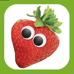 Cover: eine Erdbeere mit Augen