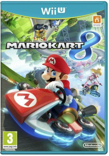 Cover. Super Mario fährt in einem Gokart kopfüber auf einer geschlängelten Strecke