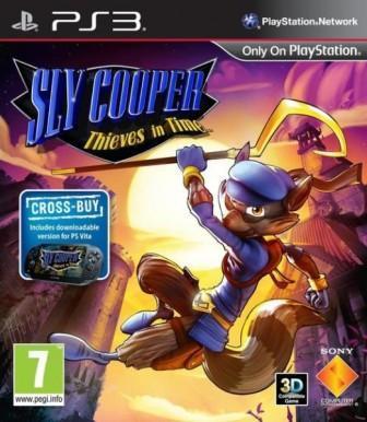 Sly Cooper schwingt zwischen Felsen.
