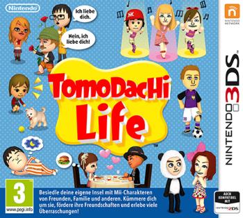 """Cover von """"Tomodachi Life"""" mit Mii-Spielcharakteren"""
