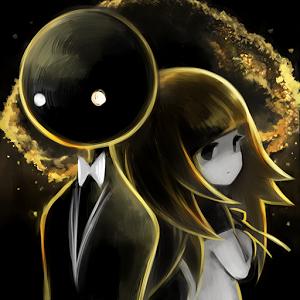 Cover: Eine dunkle Person im Anzug und ein Mädchen im Anime-Stil stehen Rücken an Rücken.