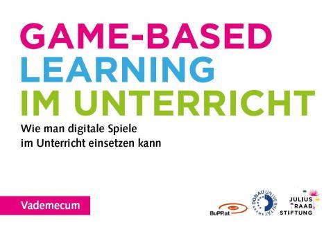 """Titelseite des Booklets """"Vademecum - Game Based Learning für den Unterricht"""""""